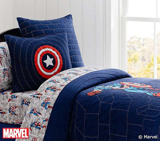 captain america quilt pottery barn kids