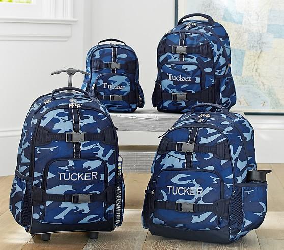 Mackenzie Blue Camo Backpacks | Pottery Barn Kids