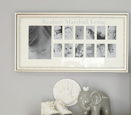 silver leaf first year frame pottery barn kids