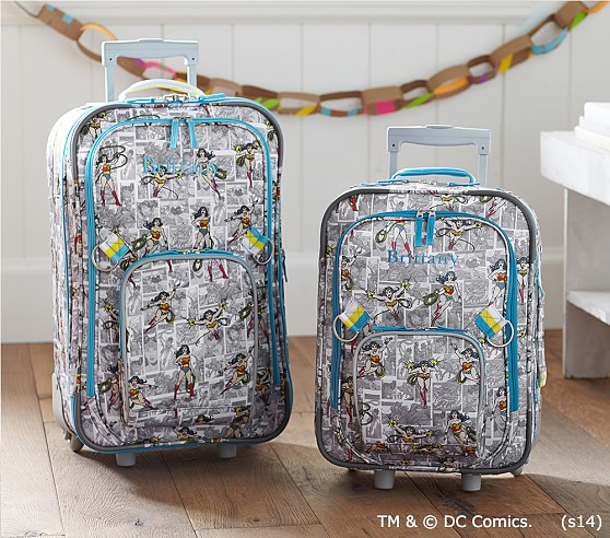 Wonder Woman™ Rolling Luggage | Pottery Barn Kids