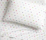 Organic Heart Sheet Set, Twin, Bright Multi