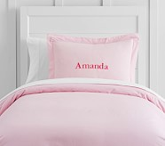 Organic Cotton Duvet Cover, Twin, Pink