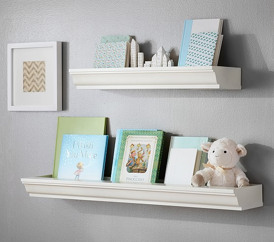 nursery floating shelves classic book nook shelving pottery barn 1118